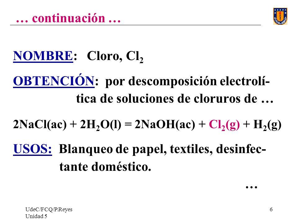 OBTENCIÓN: por descomposición electrolí-