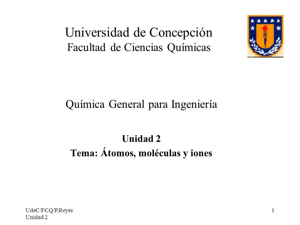 Universidad de Concepción Facultad de Ciencias Químicas