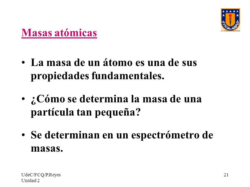 La masa de un átomo es una de sus propiedades fundamentales.