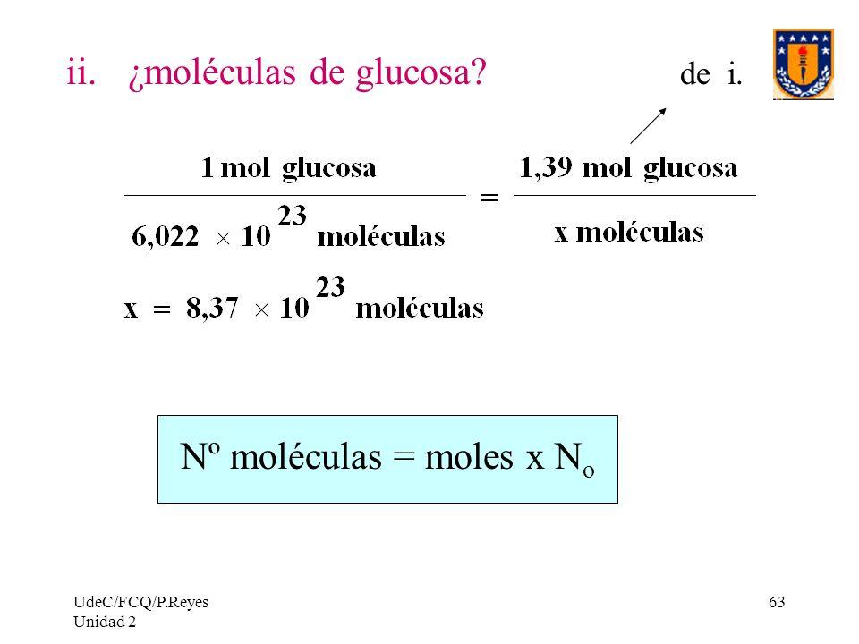 ¿moléculas de glucosa de i.