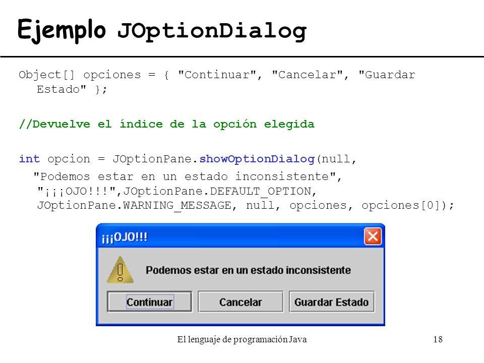 Ejemplo JOptionDialog
