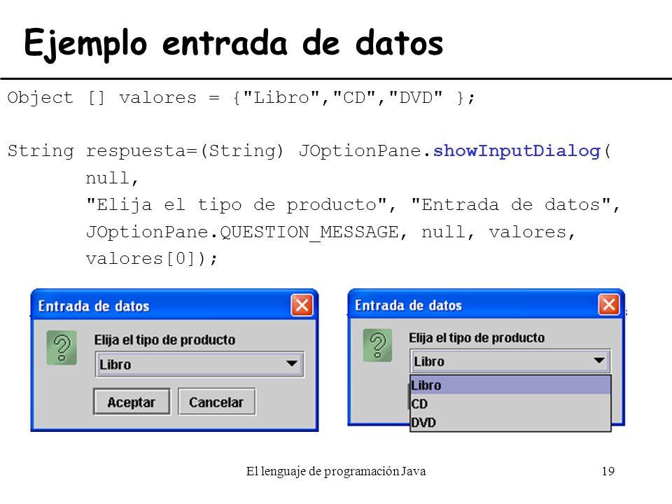 Ejemplo entrada de datos