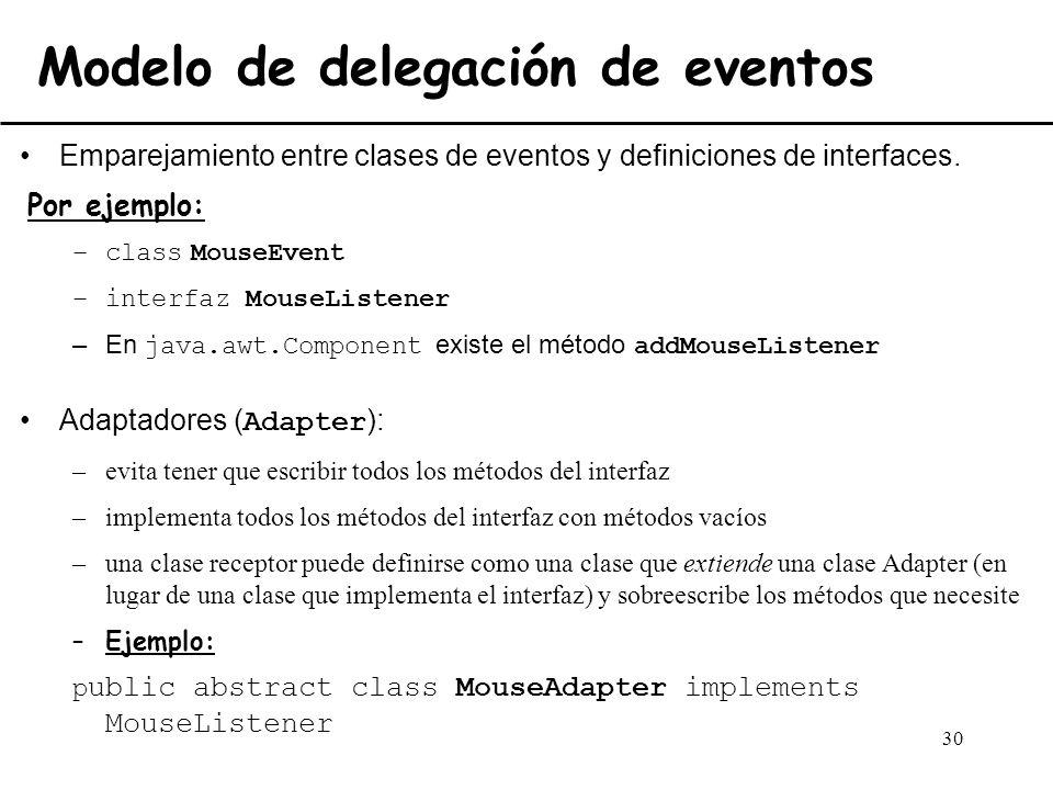 Modelo de delegación de eventos
