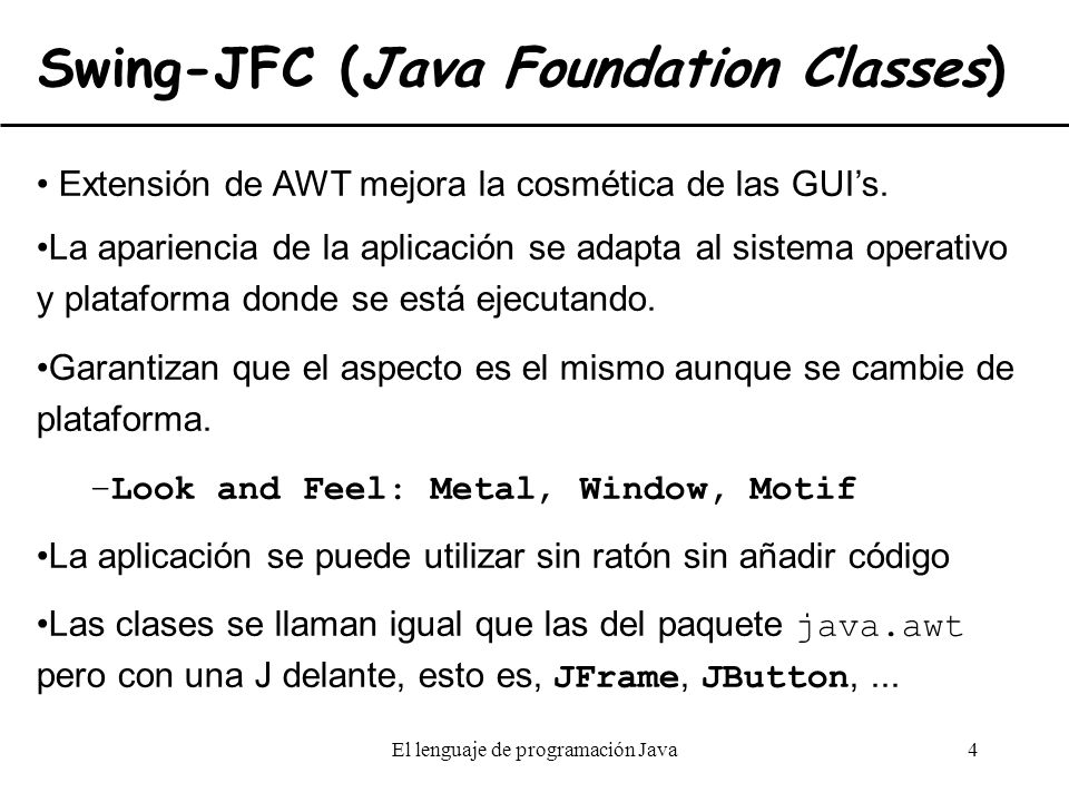 Swing-JFC (Java Foundation Classes)