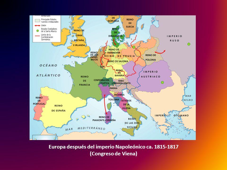 Europa después del imperio Napoleónico ca