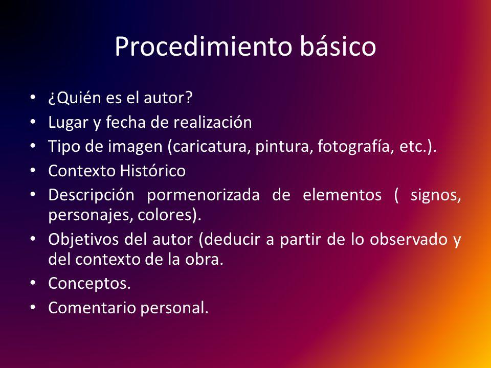 Procedimiento básico ¿Quién es el autor Lugar y fecha de realización