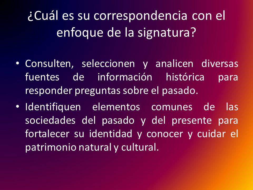 ¿Cuál es su correspondencia con el enfoque de la signatura