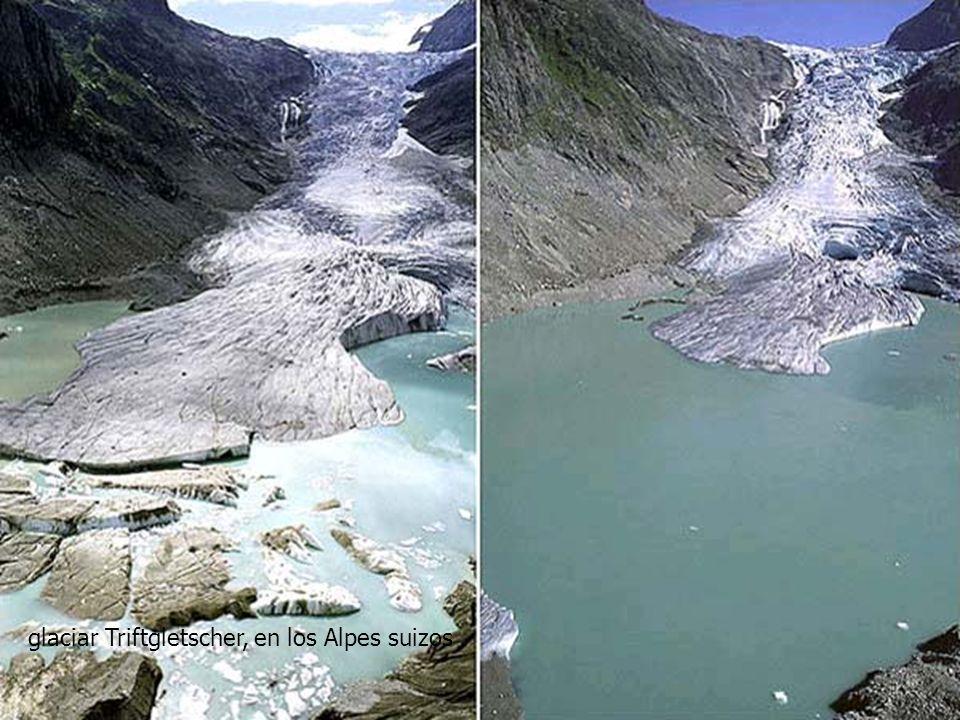glaciar Triftgletscher, en los Alpes suizos