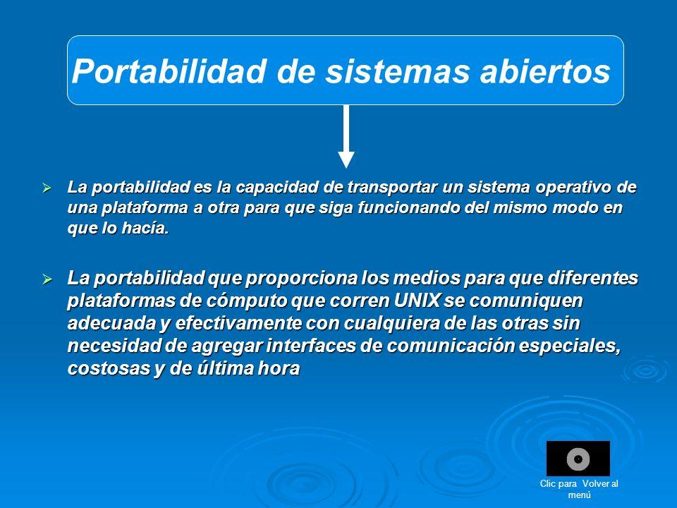 Portabilidad de sistemas abiertos