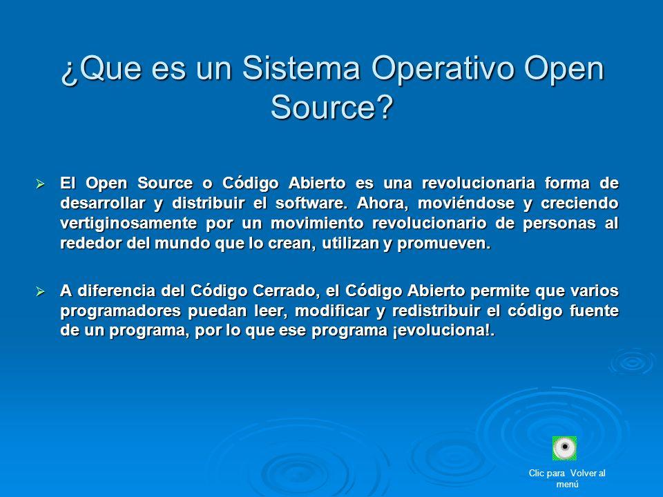 ¿Que es un Sistema Operativo Open Source