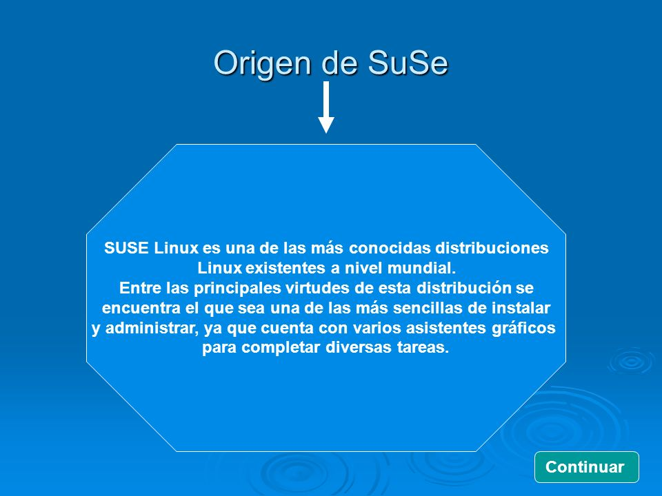 Origen de SuSe SUSE Linux es una de las más conocidas distribuciones