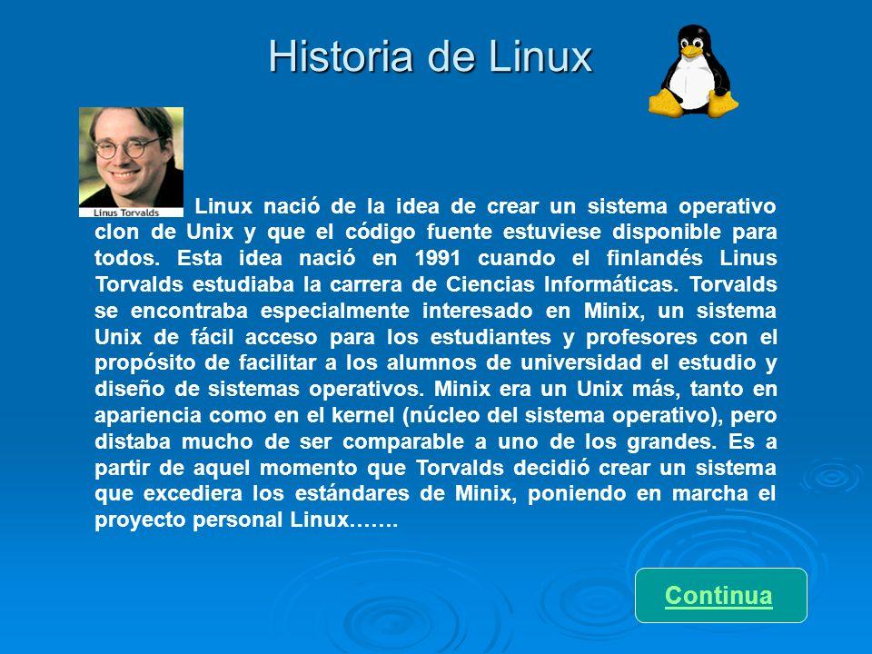 Historia de Linux Continua