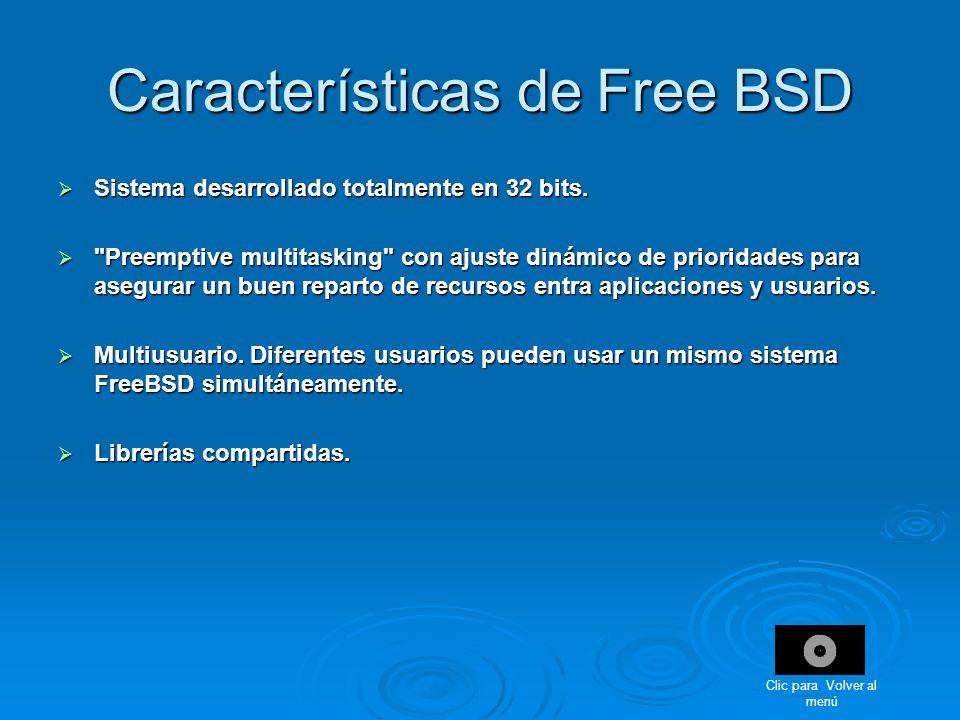 Características de Free BSD