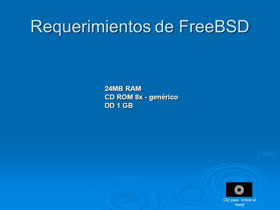 Requerimientos de FreeBSD