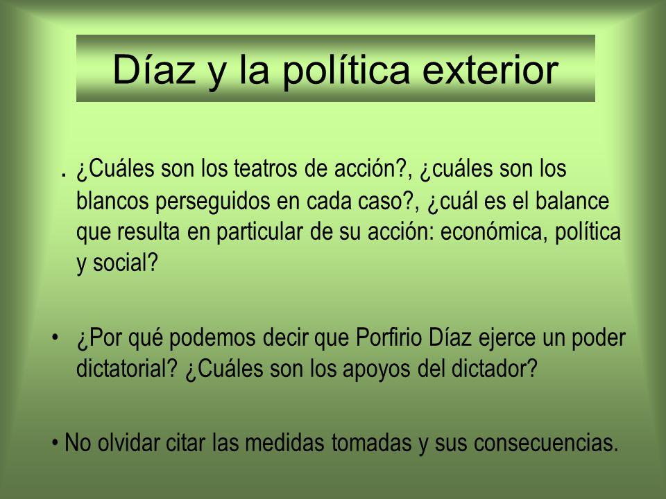 Díaz y la política exterior