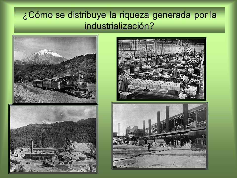 ¿Cómo se distribuye la riqueza generada por la industrialización