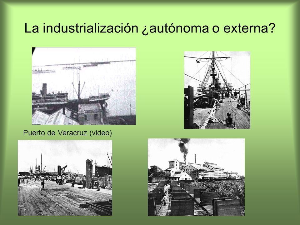 La industrialización ¿autónoma o externa