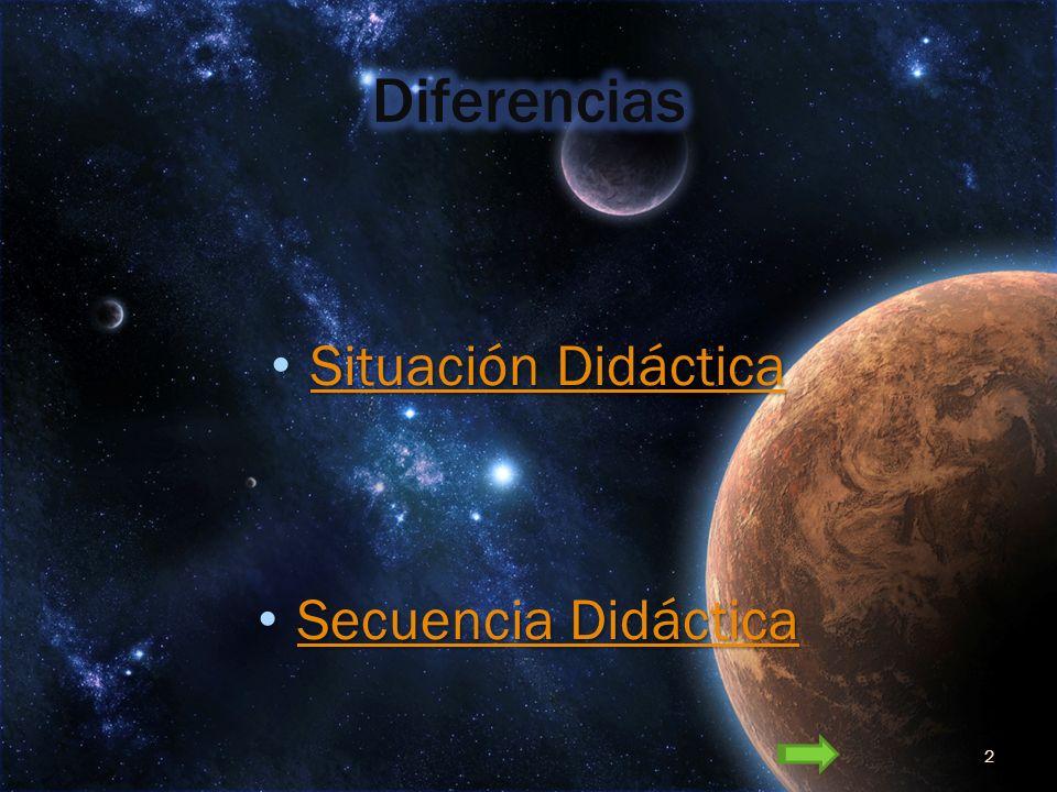 Diferencias Situación Didáctica Secuencia Didáctica