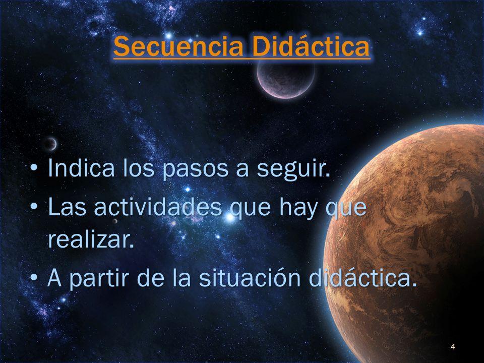 Secuencia Didáctica Indica los pasos a seguir.