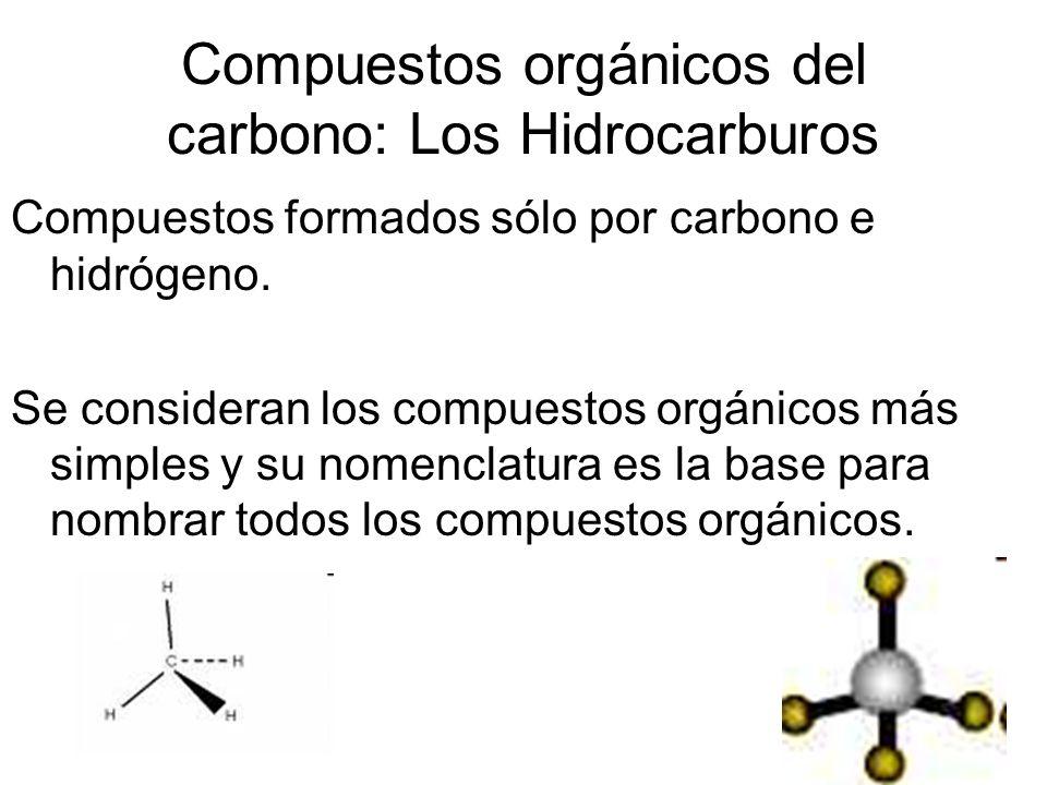 Compuestos orgánicos del carbono: Los Hidrocarburos