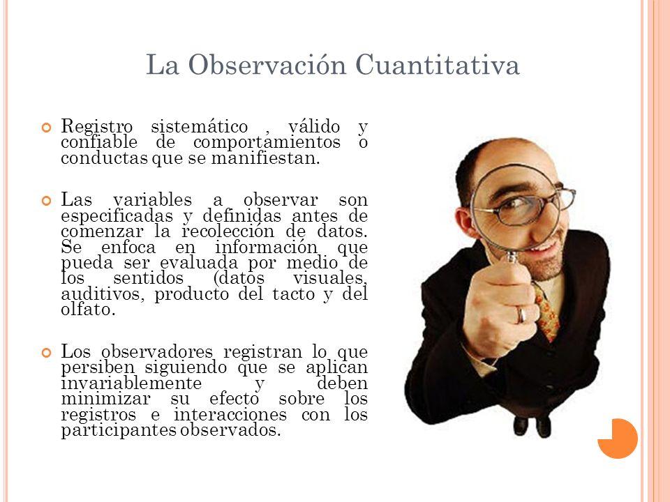 La Observación Cuantitativa