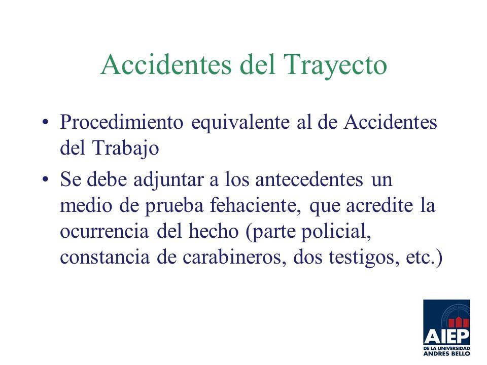 Accidentes del Trayecto