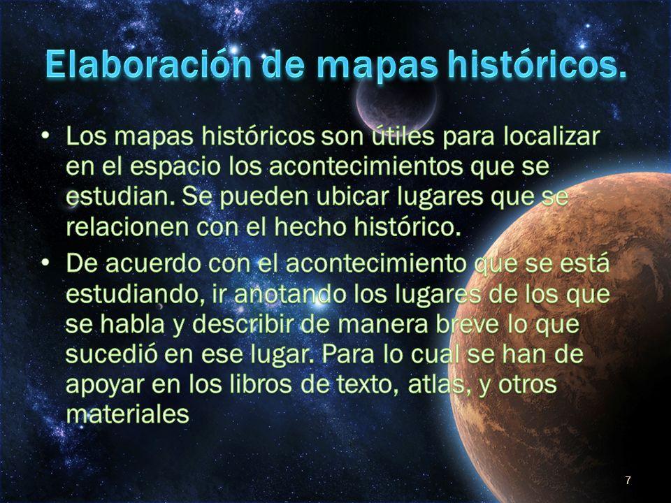 Elaboración de mapas históricos.