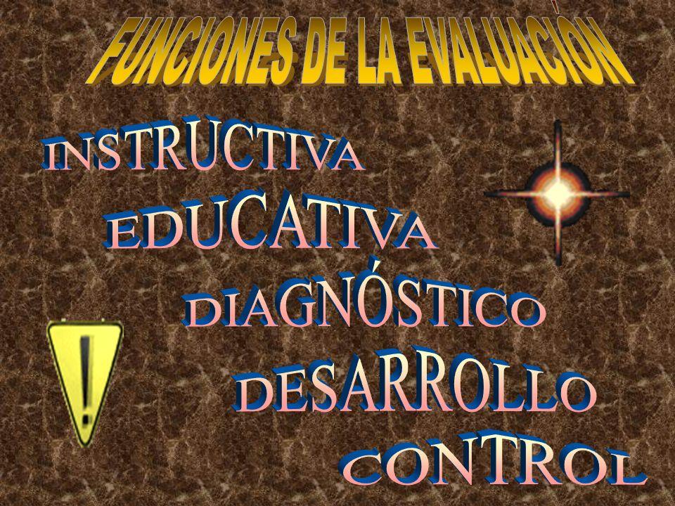 FUNCIONES DE LA EVALUACIÓN