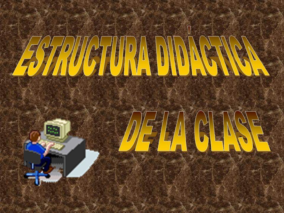 ESTRUCTURA DIDÁCTICA DE LA CLASE
