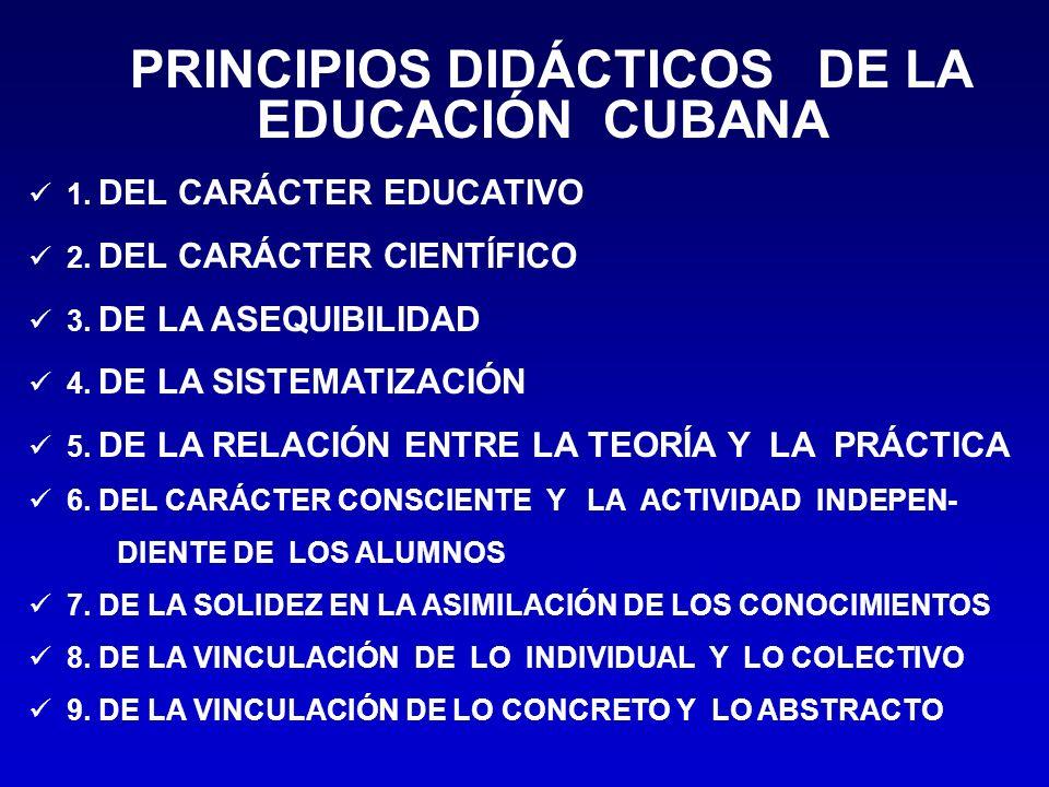 PRINCIPIOS DIDÁCTICOS DE LA EDUCACIÓN CUBANA