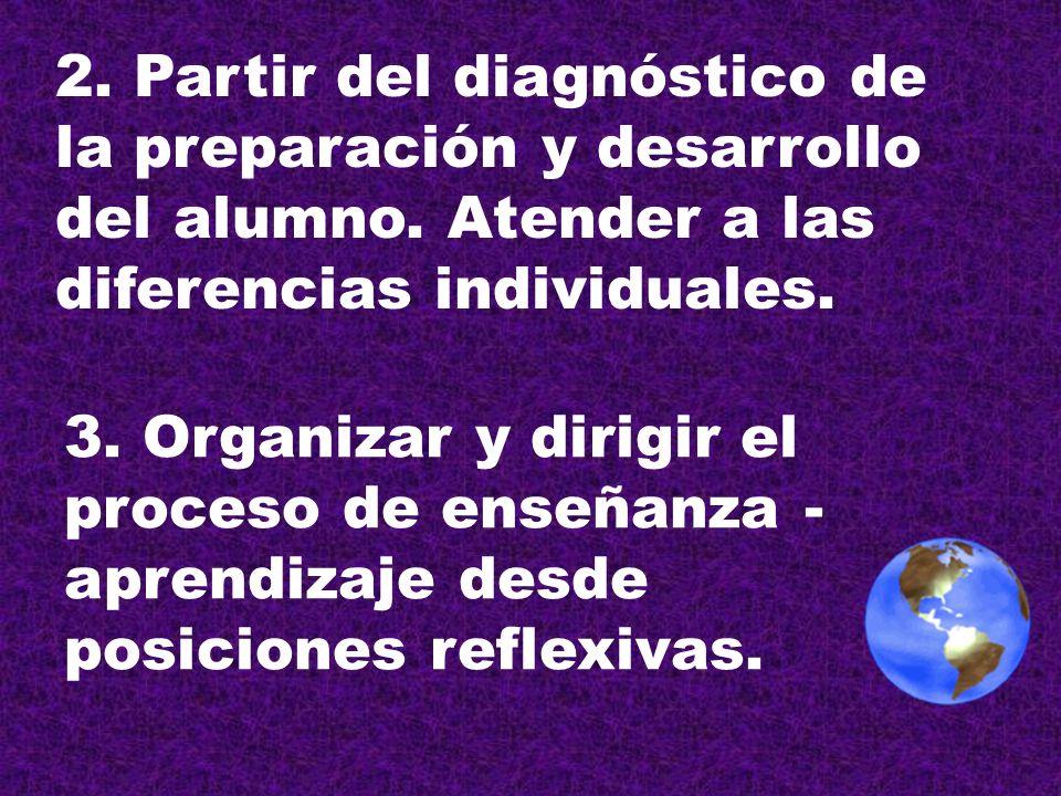 2. Partir del diagnóstico de la preparación y desarrollo del alumno