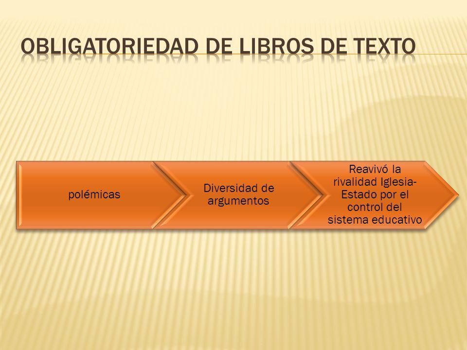 Obligatoriedad de libros de texto