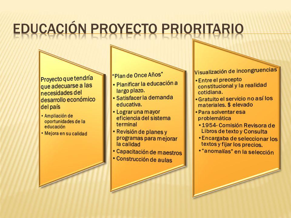 Educación proyecto prioritario