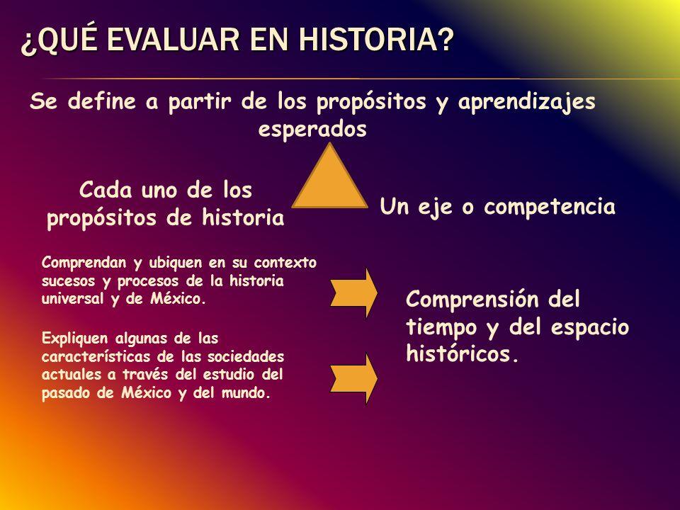 ¿Qué evaluar en Historia