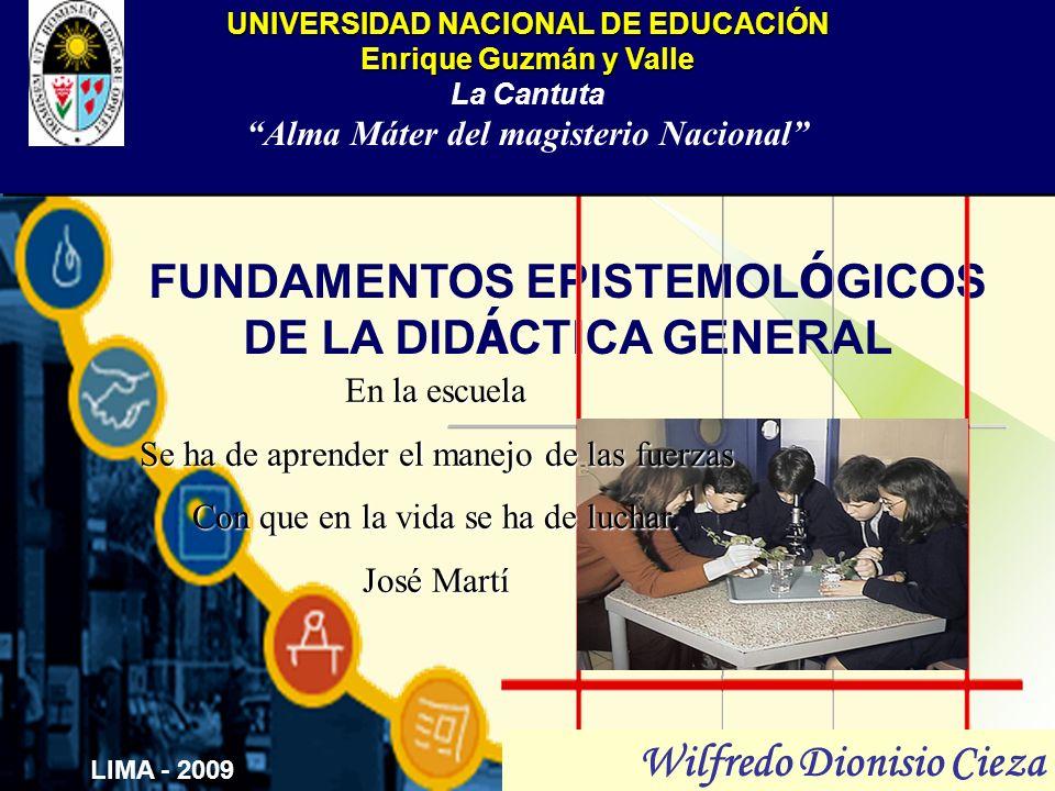 FUNDAMENTOS EPISTEMOLÓGICOS DE LA DIDÁCTICA GENERAL