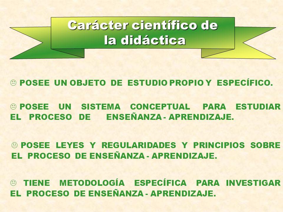Carácter científico de la didáctica