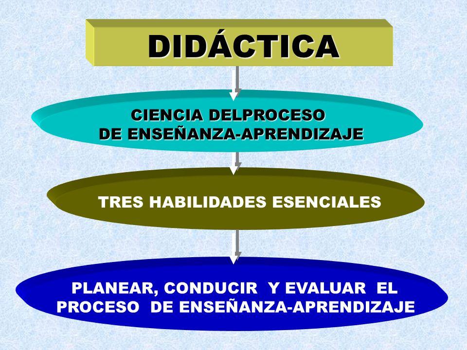 DIDÁCTICA CIENCIA DELPROCESO DE ENSEÑANZA-APRENDIZAJE