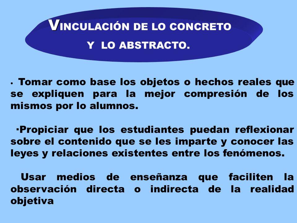 VINCULACIÓN DE LO CONCRETO