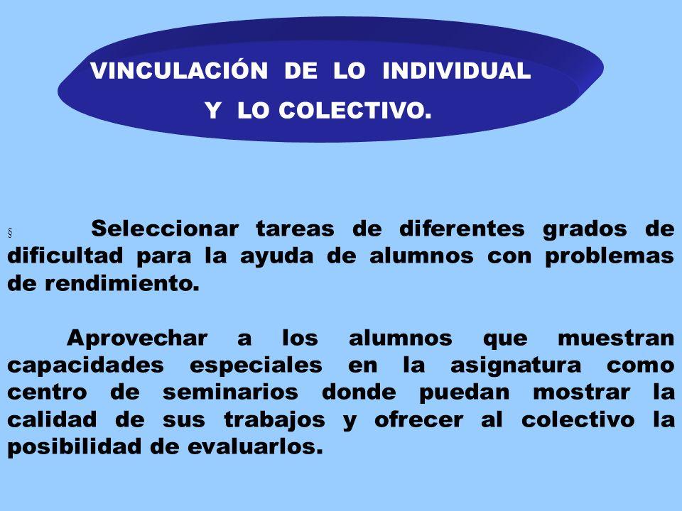 VINCULACIÓN DE LO INDIVIDUAL