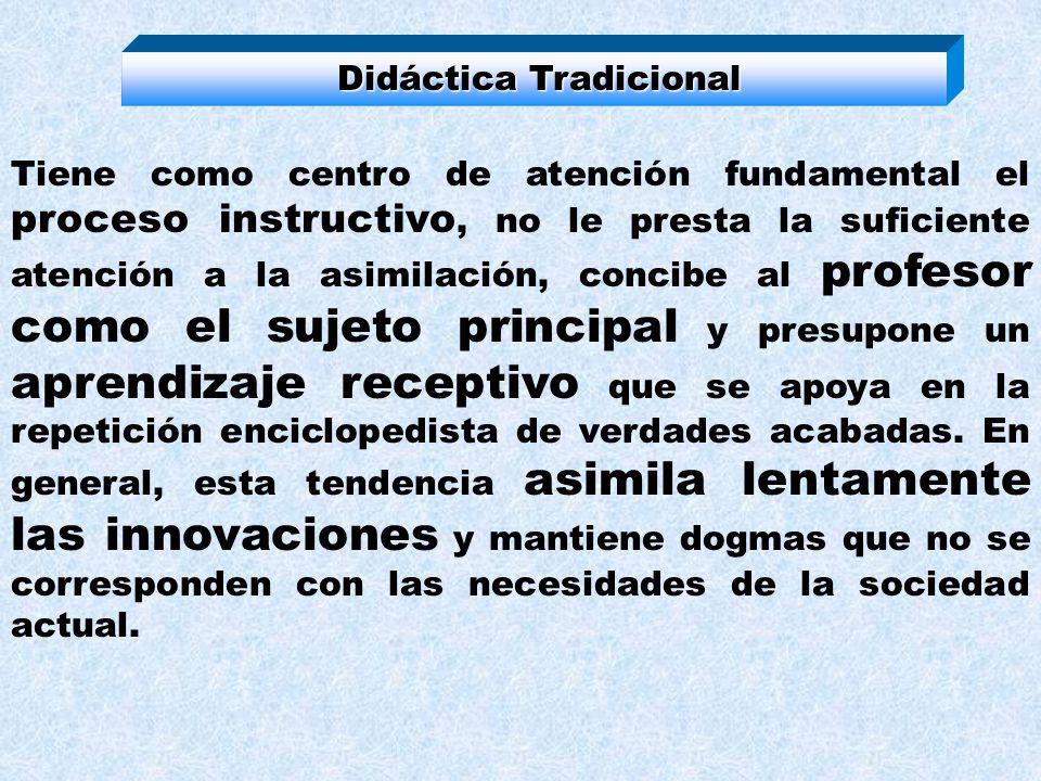 Didáctica Tradicional