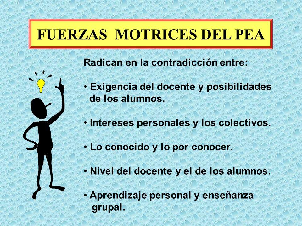 FUERZAS MOTRICES DEL PEA