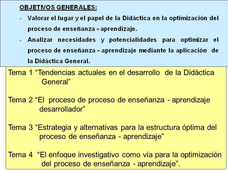 Tema 1 Tendencias actuales en el desarrollo de la Didáctica