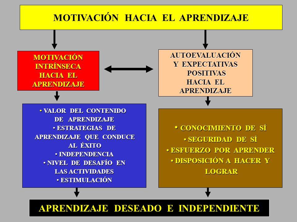 MOTIVACIÓN HACIA EL APRENDIZAJE