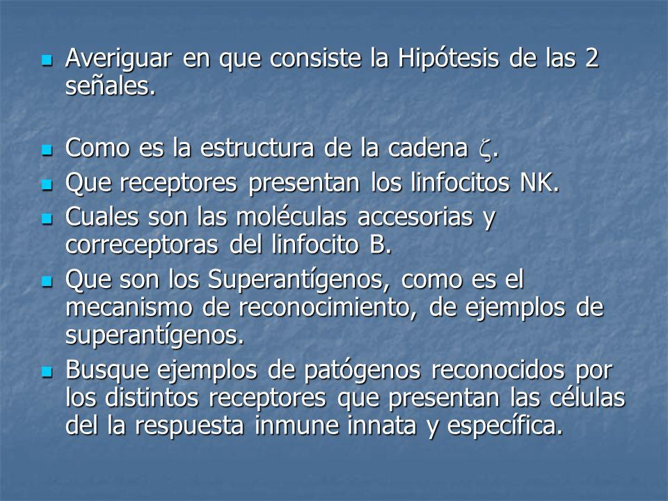 Averiguar en que consiste la Hipótesis de las 2 señales.