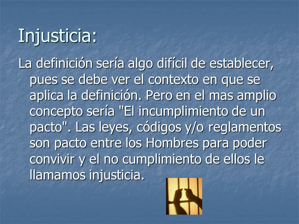 Injusticia: