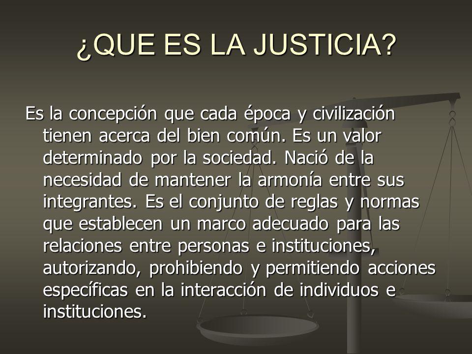 ¿QUE ES LA JUSTICIA