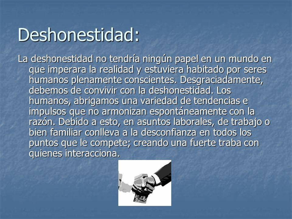 Deshonestidad: