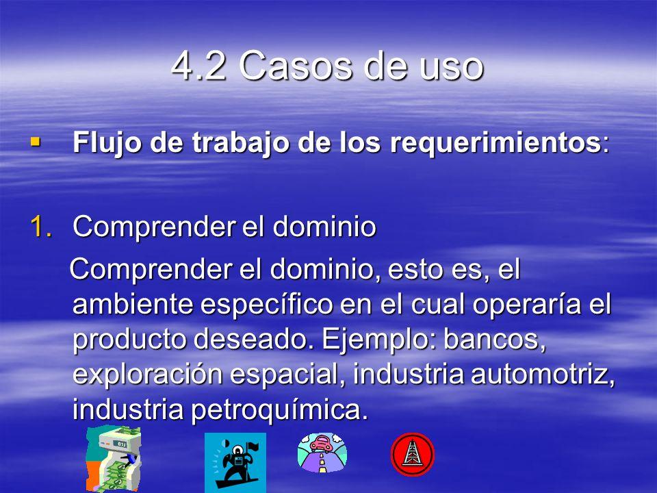 4.2 Casos de uso Flujo de trabajo de los requerimientos: