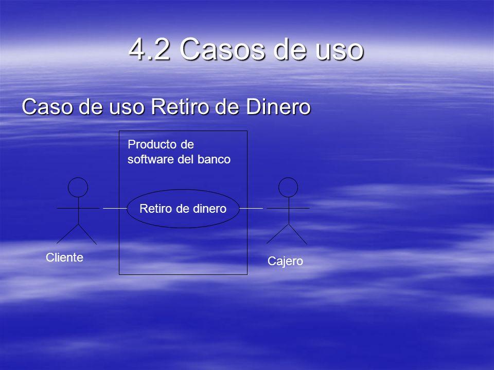 4.2 Casos de uso Caso de uso Retiro de Dinero
