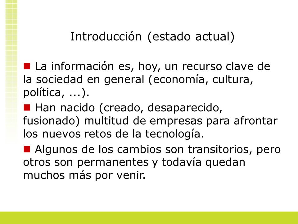 Introducción (estado actual)